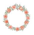 floral frame summer flower bouquet greeting card vector image vector image
