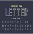 font and alphabet line letter typeface vector image vector image