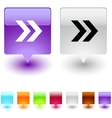 Forward arrow square button vector image vector image