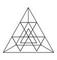 geometrical figures design vector image vector image