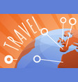 global travel concept banner cartoon style vector image