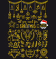gold christmas design elements vector image