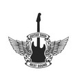 guitar shop emblem template design element vector image vector image