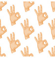 hands deaf-mute seamless pattern gestures human vector image