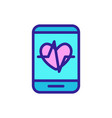 health app in phone is a icon vector image vector image