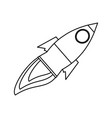 isolated big rocket vector image vector image