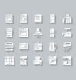 kitchen appliance simple paper cut icon set vector image