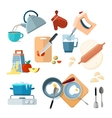 Kitchen cooking processes grated vegetables vector image vector image