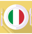 kitchen of Italy vector image vector image