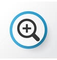 magnifier icon symbol premium quality isolated vector image