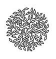 mandala circle pattern round tree leaves ornament vector image