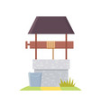medieval well in cartoon style vector image vector image