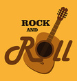 Music design over yellow background vector image vector image