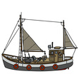 Old fishing cutter vector image