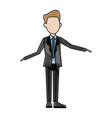 politician man leadership character suit standing vector image vector image