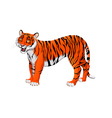 Red cartoon tiger vector image vector image