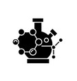 scientific research black icon sign on vector image vector image