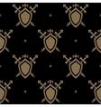 seamless pattern sword and shield vector image vector image