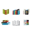 Set of book icons in flat design style vector image