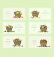 set of fruits and vegetables labels vector image