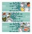 set of horizontal banners about tea vector image vector image
