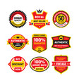 set retro business badge set vector image vector image