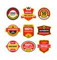 set retro business badge vector image