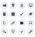 set simple web icons vector image