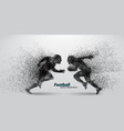 silhouette of a football player from particle vector image vector image