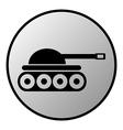 Tank button vector image vector image
