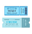 theatre ticket cruise coupon vector image