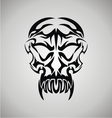 Tribal Demon Skull vector image vector image