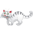 White fun cat vector image vector image