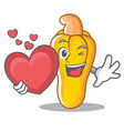 with heart cashew mascot cartoon style vector image vector image