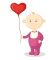 baby with a heart balloon vector image