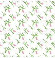 seamless pattern with bamboo with paper strip vector image