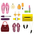 set of stylish women accessories vector image