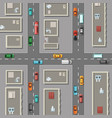 top view city with office buildings vector image