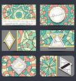 Business card set Card with geometric mandala vector image