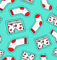 Male underwear patch icon seamless pattern vector image