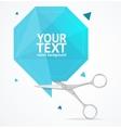 Scissors Origami Speech Bubble Banner vector image