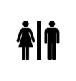 Toilet Icon Flat vector image