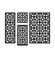 art deco laser cut pattern decorative panel vector image