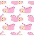 Baby Girl Seamless Pattern vector image vector image