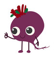 beet icon cartoon style vector image vector image