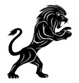 black lion sign vector image vector image