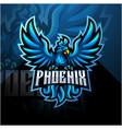 blue phoenix esport mascot logo design vector image vector image