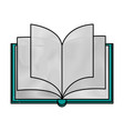 book open isolated vector image vector image