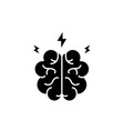 brainstorm black icon sign on isolated vector image vector image