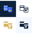 broken credit card stock icon set concept of vector image